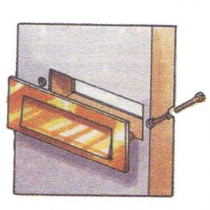 установка дверной ручки, дверной фурнитуры