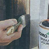 Как освежить окна лессирующей краской