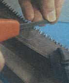 Как заточить зубья ручной пилы