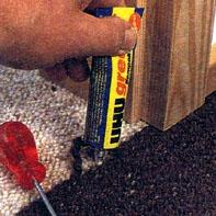 Как отреставрировать стыки коврового покрытия.