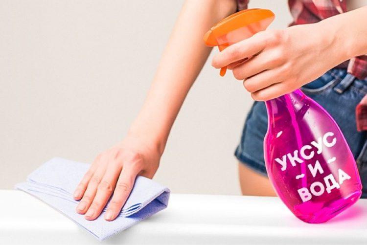 Уксус, как чистящее средство